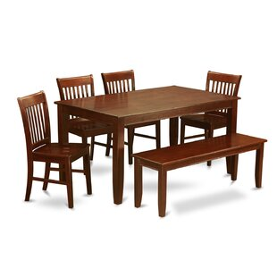 Dudley 6 Piece Solid Wood Dining Set Wooden Importers