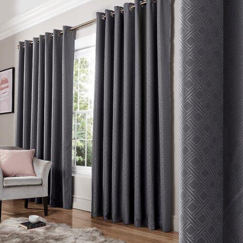 Bertram Eyelet Room Darkening Thermal Curtains Three Posts