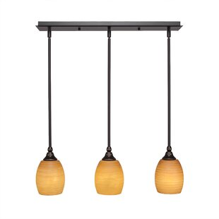Woody 3-Light Kitchen Island Pendant by Red Barrel Studio