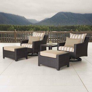 Northridge 5 Piece Sunbrella Conversation Set with Cushions by Three Posts