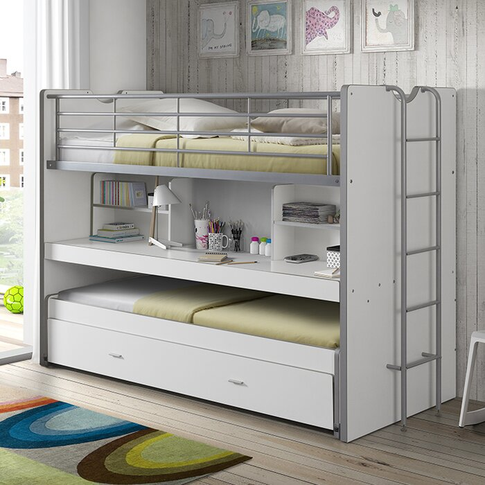 Dewitt European Single High Sleeper Bed With Storage