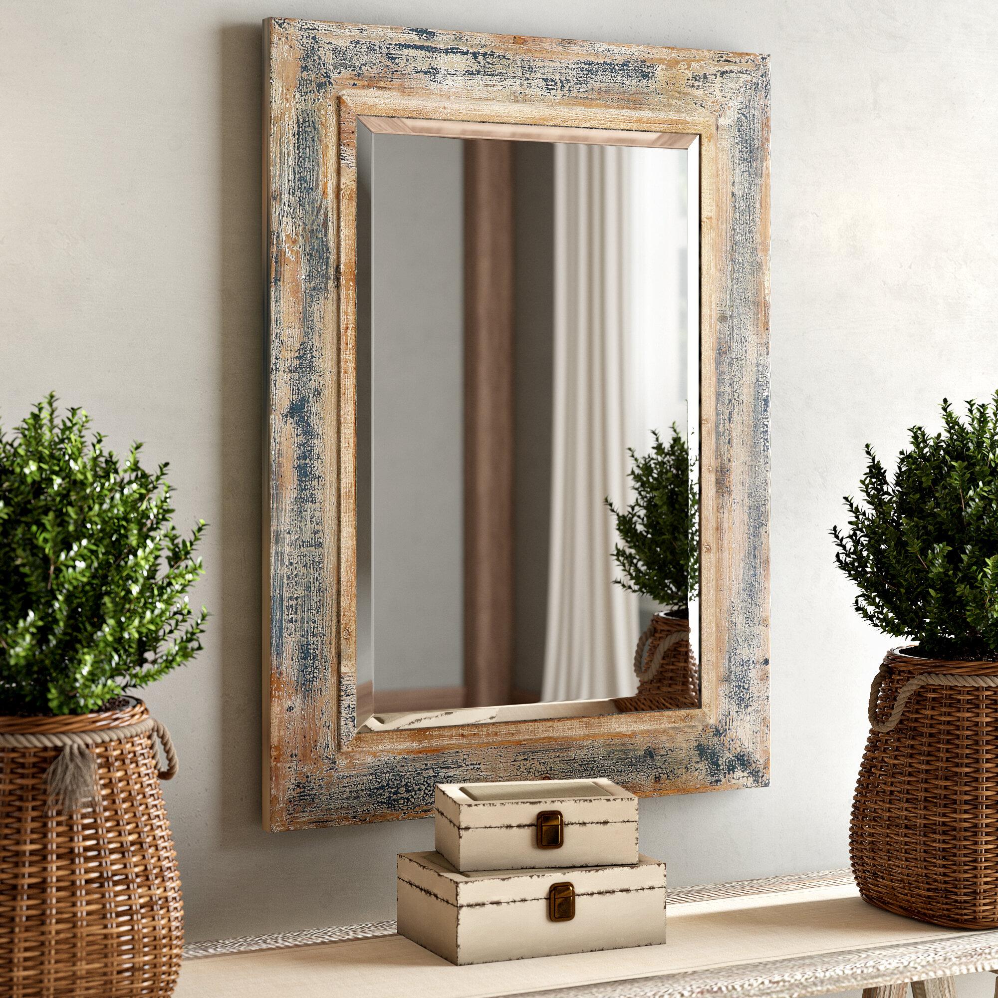 One allium way janie rectangular wall mirror reviews wayfair