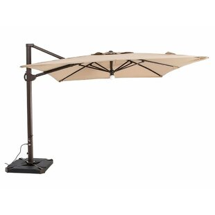 Red Barrel Studio Peregrine Patio Offset Hanging 10' Cantilever Umbrella