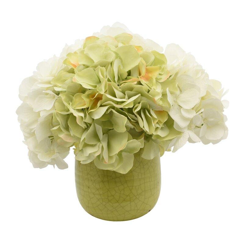 One Allium Way Hydrangea Floral Arrangements In Pot Wayfair