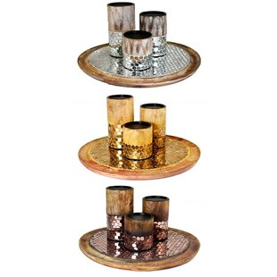 Mosaic Metal Tealight Holder (Set of 3) by Bloomsbury Market