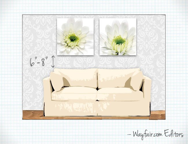 Hanging Art Above A Sofa How To Hang Wall Wayfair S Ideas Advice