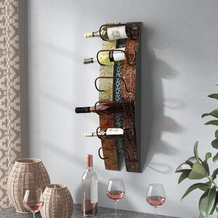 Zendaya 6 Bottle Wall Mounted Wine Rack by Fleur De Lis Living