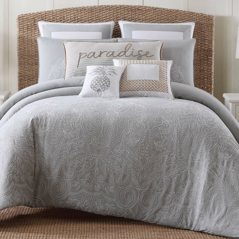 Java Gray White Comforter Set