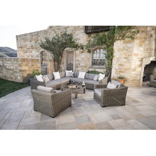 Monroeville 8 Piece Sunbrella Sectional Set with Cushions by Darby Home Co