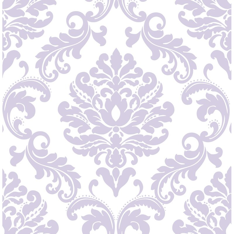 Purple Ariel Peel And Stick Wallpaper Roll