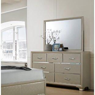 Braysham 7 Drawer Double Dresser with Mirror