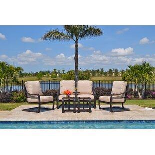 Outdoor Masterpiece Palms 5 Piece Sunbrella Sofa Set with Cushions