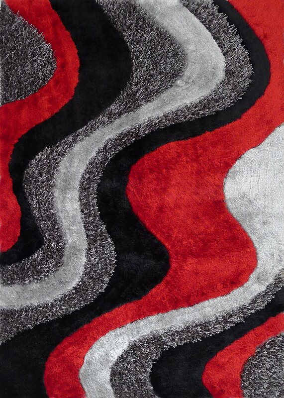 Black And Red Area Rugs rug factory plus hand-tufted black/red area rug & reviews | wayfair