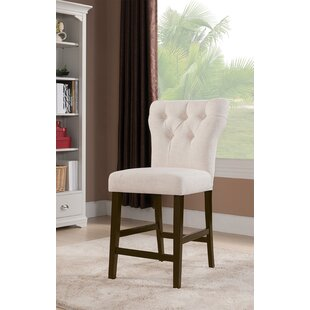 Meyersdale Counter Height Upholstered Dining Chair (Set of 2) DarHome Co
