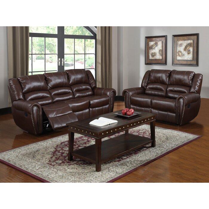 Brady Leather Reclining Sofa