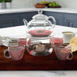 Gaughan Personal Heat Resistant 6 Piece Glass Tea Set