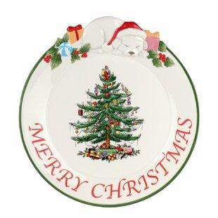 Christmas Tree Puppy Platter