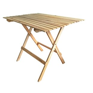 Purchase Goodridge Folding Wood Dining Table Good price
