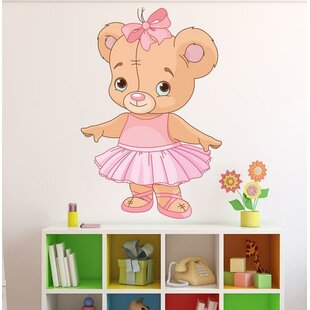 Ballerina Teddy Bear Wall Decal