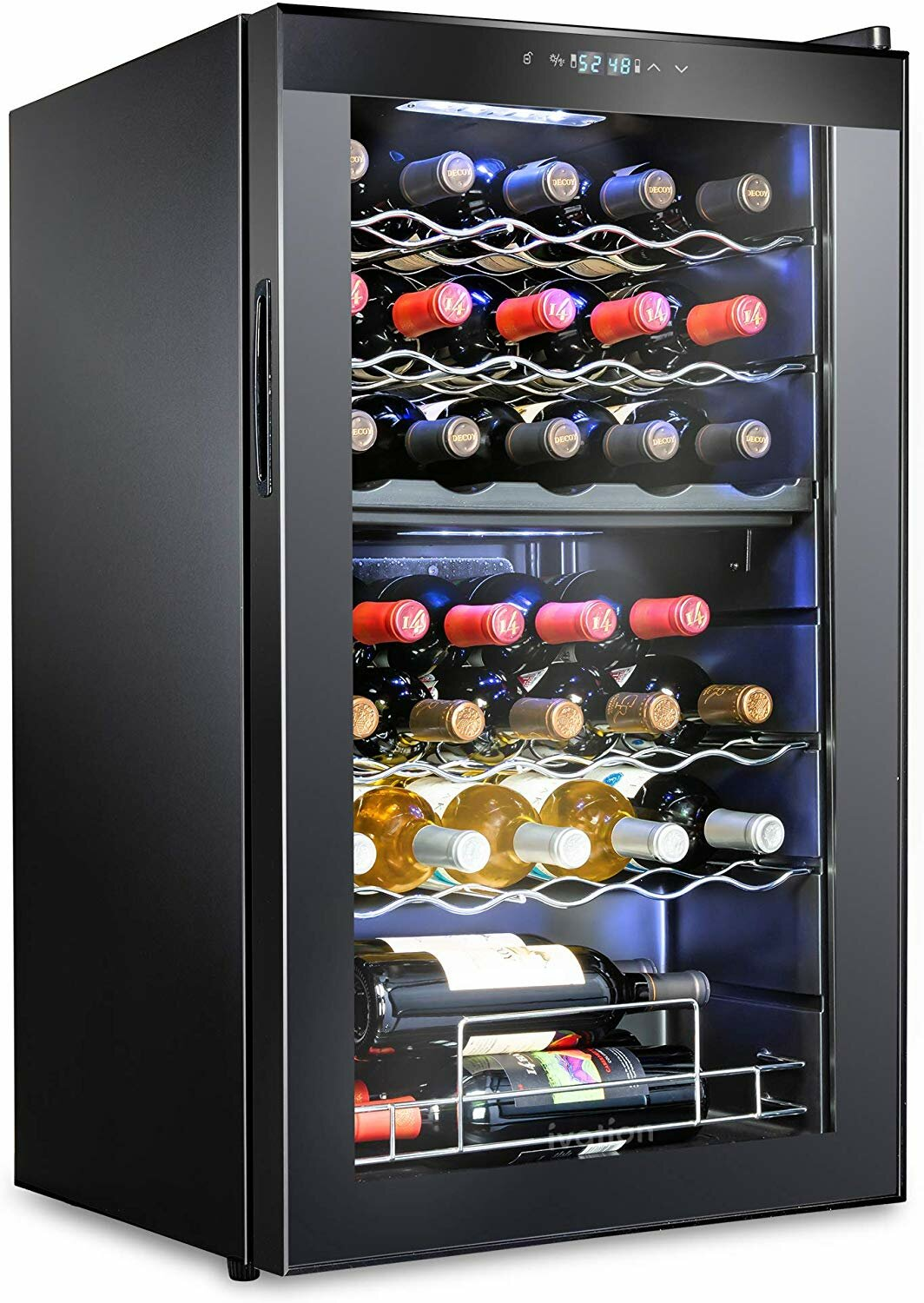 Ivation 33 Bottle Dual Zone Freestanding Wine Refrigerator Reviews Wayfair