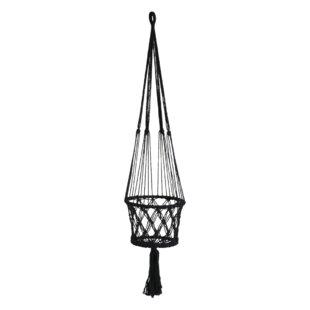 Macramé Natural Fibre Hanging Basket By World Menagerie