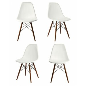 Harrison Matte Solid Wood Dining Chair (Set of 4) by Langley Street