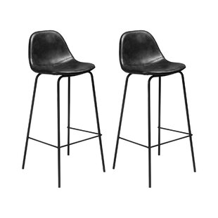 Admirable Connor Faux Leather Bar Counter Stool Set Of 2 Machost Co Dining Chair Design Ideas Machostcouk