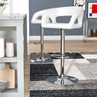 Cosmas Adjustable Height Bar Stool Brayden Studio