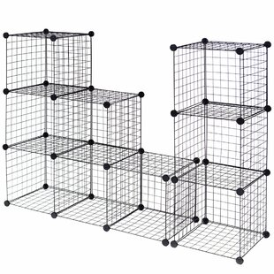 Ivan Grid Wire Cube Bookcase (Set Of 12) by Rebrilliant Amazing