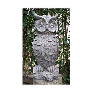 Lassiter Owl Stone Garden Statue By Happy Larry