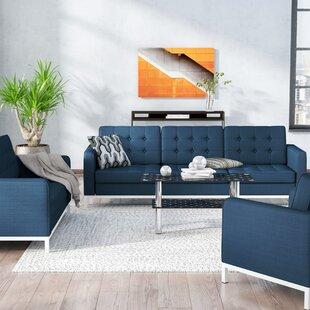 Inexpensive Gayatri 3 Piece Living Room Set by Orren Ellis Reviews (2019) & Buyer's Guide