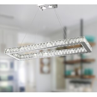 Orren Ellis Leiter 16-Light LED Crystal Chandelier