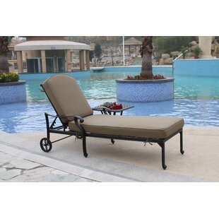 Wang Reclining Chaise Lounge with Cushion