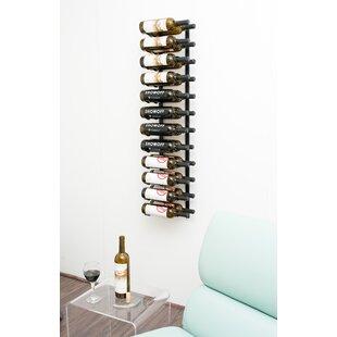24 Bottle Metal Wall Mounted Wine Rack by..