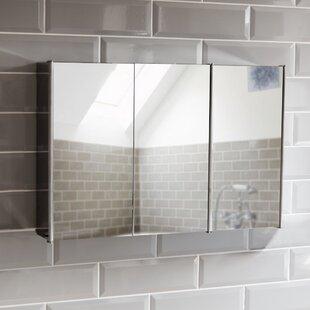 Bathroom Triple 68cm X 45cm Wall Mounted Mirror Cabinet By Symple Stuff