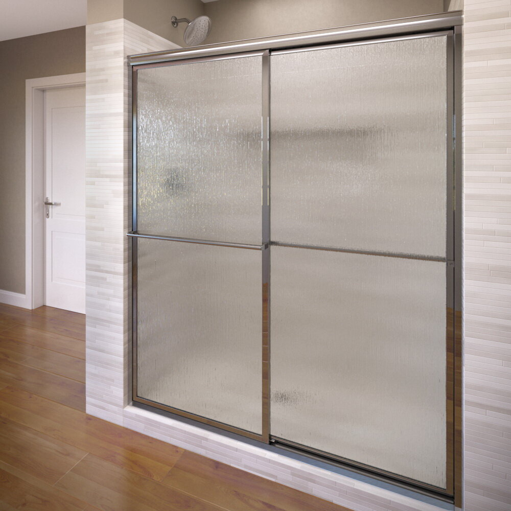 Basco Deluxe 44 X 68 Bypass Framed Shower Door Wayfair