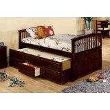 Morley Captain Bed with Trundle and Drawers by Harriet Bee