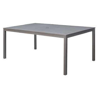 Randi Aluminum Framed Dining Table by Canora Grey Amazing