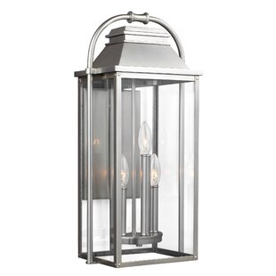 Gracie Oaks Shekar 3-Light Outdoor Flush Mount