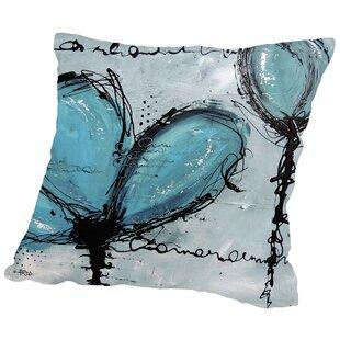 Fleurs Turquoise Throw Pillow