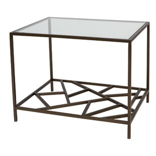 Allan Copley Designs Cracked Ice End Table