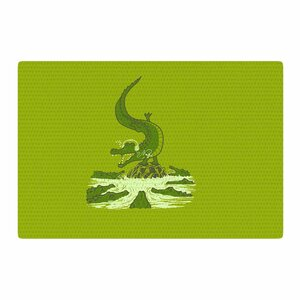 BarmalisiRTB Breakdance Crocodile Green/Beige Area Rug