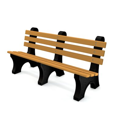 Aiden Recycled Plastic Park Bench Color: Cedar, Mounting Type: None, Size: 6