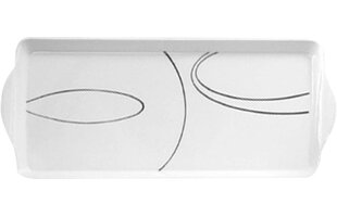 Simple Lines Melamine Tidbit Rectangle Serving Platter