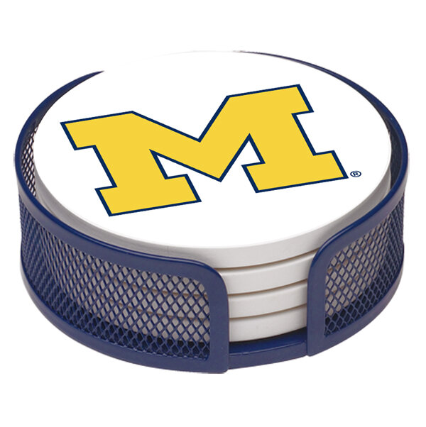 Thirstystone University Of Michigan Collegiate Gift Set 5 Piece Coaster Set With Holder Reviews Wayfair