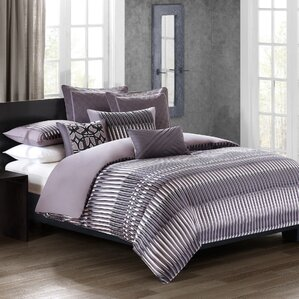 abstract stripe 3 piece reversible duvet cover set