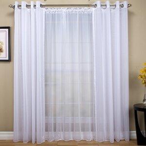 Tergaline Patio Solid Sheer Rod Pocket Single Curtain Panel