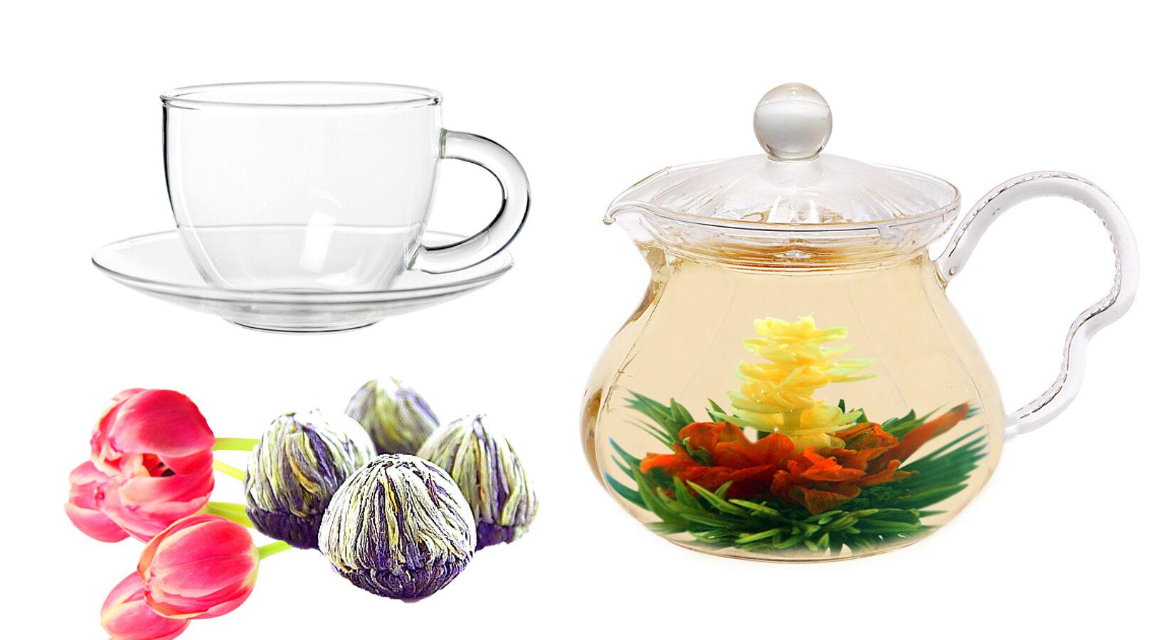 Tea Beyond Fairy 063 Qt Jasmine Fab Flowering Teapot Set Wayfair