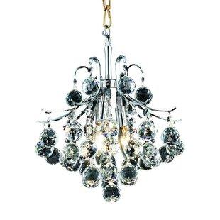 Big Save McAllen 3-Light Crystal Pendant By Mercer41