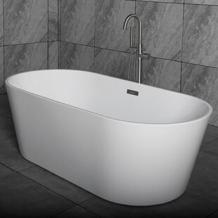 59 X 29 5 Freestanding Soaking Bathtub